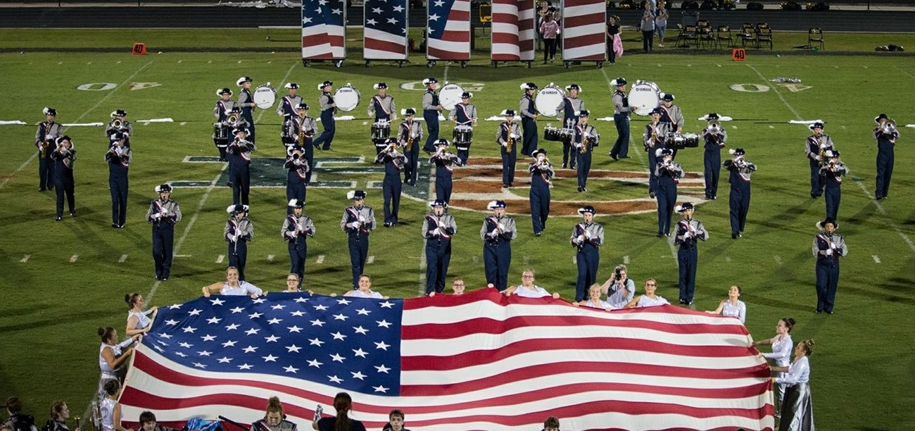 HS Rebel Band and Flags