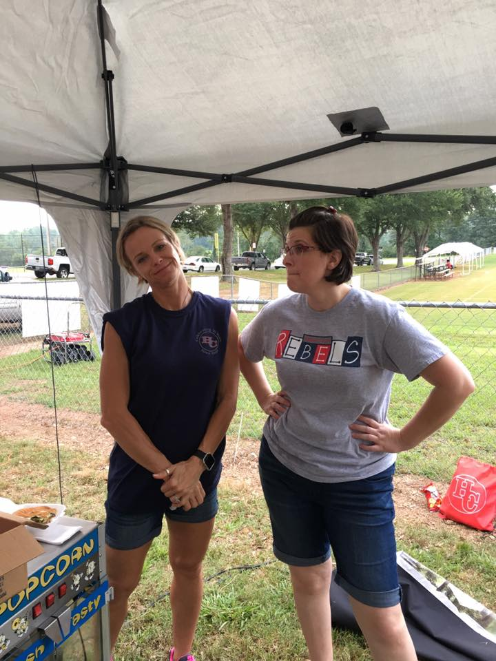 Mrs. Hurston and Ms. Brice at  Rebel Fest 2017