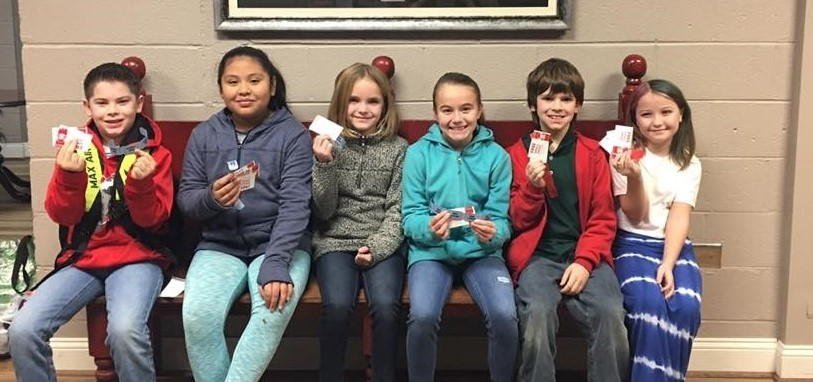 WHES 4th Grade students of the month January