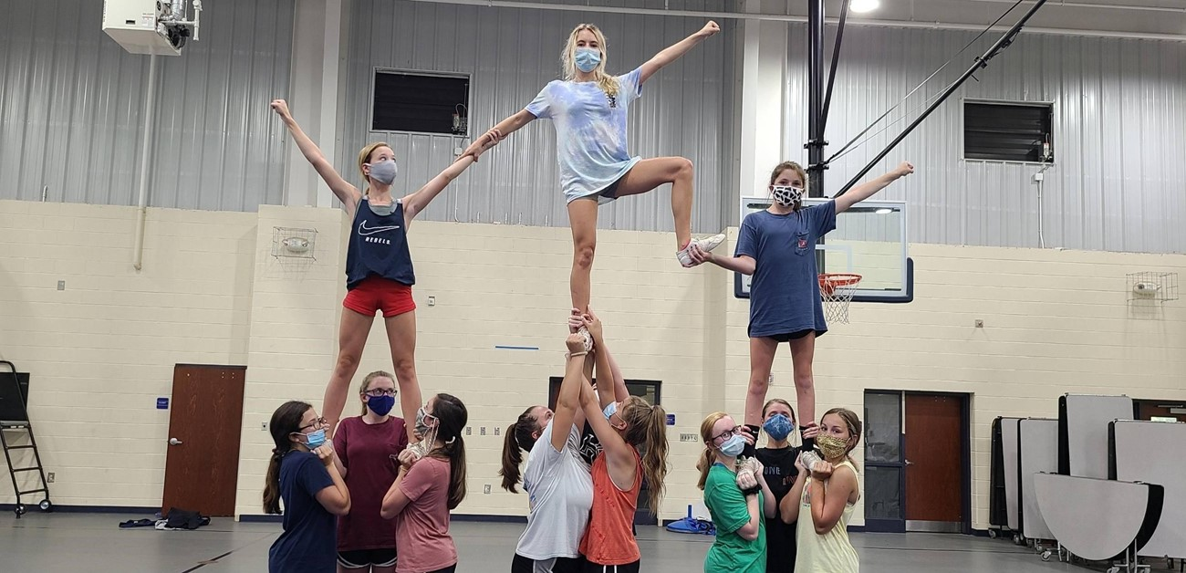 Junior Varsity Cheerleaders Practice